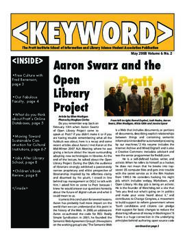 Keyword, May 2008 Volume 6 no. 2